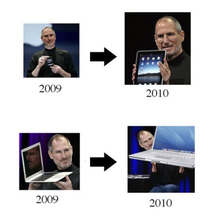 Evolução, por Steve Jobs